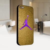 Nike Gold Air Jordan Logo CUSTOM - Photo on Hard Cover For Iphone 4 / 4S Case, iPhone 5 Case - Black, White, Clear
