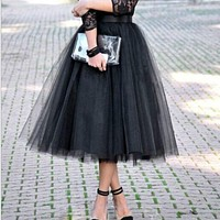 Tulle Skirt Pleated TUTU Skirts 5XL