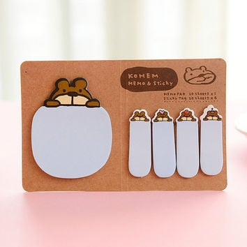 Kawaii Sticky notes - Kawaii Post It Notes - Planner Supplies - Page flags - Page Markers - Pig sticky notes - Animal Sticky notes