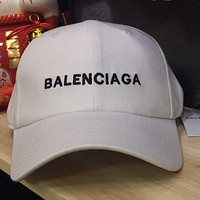 Balenciaga Fashion Woman Men Embroidery Sunhat Peaked Hat Cap