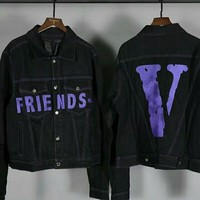 HOT SALESVLONE FRIENDS denim jacket 100%