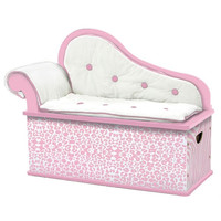 Levels of Discovery Pink Wild Side Bench Seat w/ Storage - S101