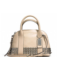 Bleecker Mini Preston Satchel tote bag in Studded Leather