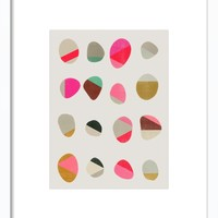 Painted Pebbles Framed Print, Artfully Walls