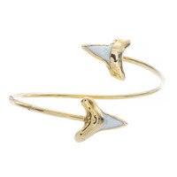 Double Shark Tooth Bangle
