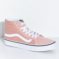 Vans Sk8-Hi Mahogany Rose & White Skate Shoes | Zumiez
