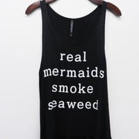 Real Mermaids Smoke Seaweed Tank Top
