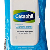 Cetaphil Gentle Skin Cleansing Cloths (Package with 25 Cleansing Cloths)