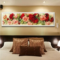 Embroidery Floral Mosaic Wall Decor