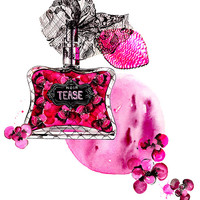 Perfume Illustrated- Sexy Little Things Noir Tease by Victorias Secret - Watercolor Fashion illustration