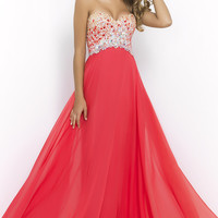Blush Strapless Sweetheart A-Line Gown