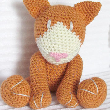 Crochet Animal, Crochet Cat Stuffed Animal, Plush Cat, Crochet Kitty, Stuffed Cat, Kitten Plush, Cat Plush, Stuffed Cat, Toy Cat