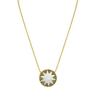 House Of Harlow 1960 Earth Metal Mini Sunburst Pendant Necklace