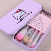 Makeup brush combination 7pcs Lovely pink hello kitty hot selling Cosmetic brush  Makeup brush