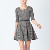 'The Kelley' Plaid Belted Skater Dress