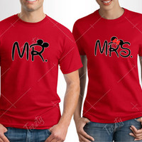 Mr Mrs Mickey Minnie T-shirt T-shirts Matching T-shirt T-shirts Couple T-shirt T-shirts Sweatshirts Hoodies Couple Hoodie Hoodies Love