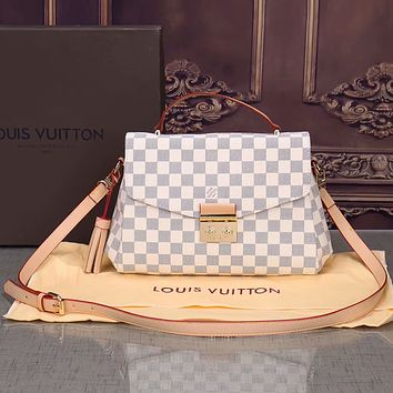 Louis Vuitton Women's Fashion Printed Vintage Crossbody Shoulder Bags Small Square Bag