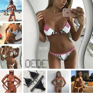 bikini Bohemian  swimwear women swimsuit maillot de bain femme bathing suit women bikini beach wear brazilian bikini set