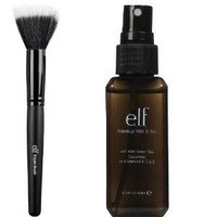 elf Makeup Mist and Set, Clear, 2.02 Ounce and Stipple Brush