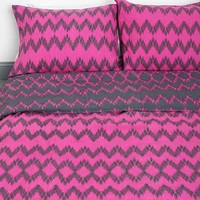 Magical Thinking Chevron Sham - Set Of 2- Berry One