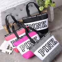 """ Pink "" Printed Make Up Victoria's Secret Like Travel Cosmetic Make Up Toiletry Holder Beauty Wash Organizer Storage Purse Bag Monopoly Pouch Purse _ 13498"