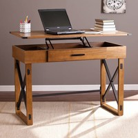 Harper Blvd Carlan Distressed Pine Adjustable Height Desk | Overstock.com Shopping - The Best Deals on Desks