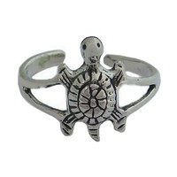Hawaiian Sea Turtle Sterling Silver Toe Ring Jewelry