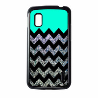 Glitter Print Chevron Nexus 4 Case