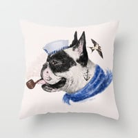 F.B.D Throw Pillow by dogooder