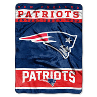 New England Patriots NFL Royal Plush Raschel (12th Man Series) (60in x 80in)
