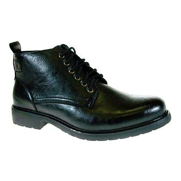 Men's Polar Fox Ankle High Round Toe Lace Up Boot 506003 Black-323