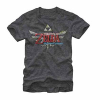 Legend Of Zelda Nintendo TLOZ Skyward Gray T-Shirt