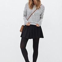 FOREVER 21 Cropped Striped Hoodie