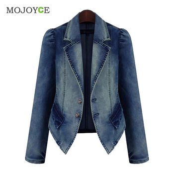 Thick Women Jacket Jean Coat Plus Size Motorcycle Coat New Denim Slim Outwear Women Basic Coats Bomber Jacket Denim Jacket