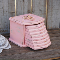 Pink shabby chic coasters