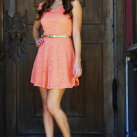 Free To Flirt Dress: Bright Coral   Hope's