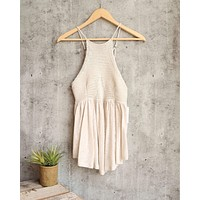 Free People - Road Trip Crochet Tank in Taupe