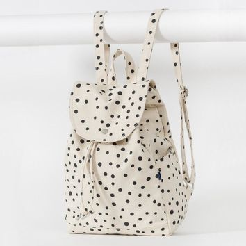 BAGGU Drawstring Backpack Paint Dot