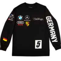 Club Foreign Long Sleeve T-Shirt German Series In Black