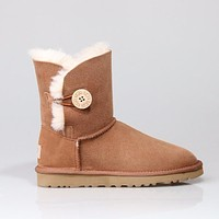 Ugg 1016226 Chestnut Classic Bailey Button II Boot Snow Boots