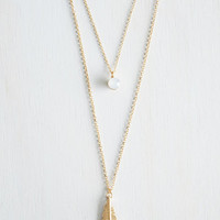 Boho The Sooner the Feather Necklace by ModCloth