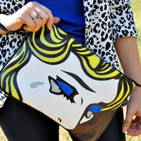 Girl's Tear Print Clutch Bag - OASAP.com