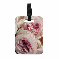 """Crissy Mitchell """"Pink Roses"""" Pastel Floral Decorative Luggage Tag"""
