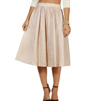 Sale-champagne Red Carpet Ready Skirt