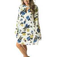 I'm All In- Floral Tunic Dress