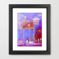 crazy song about love Framed Art Print by Marianna Tankelevich
