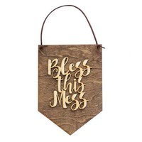 Apartment Decor - Home Office Sign - Bless This