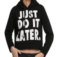 Loose Letters Print Hooded Sweater Shirts  12176