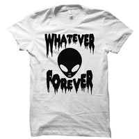 Whatever forever - Horror alien - Dripping & melting style - Gray/White Unisex T-Shirt - 032