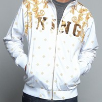Jeweled Tiger King Zip Up Track Jacket